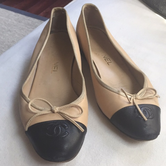 Chanel Twotone Ballet Flats Size 38
